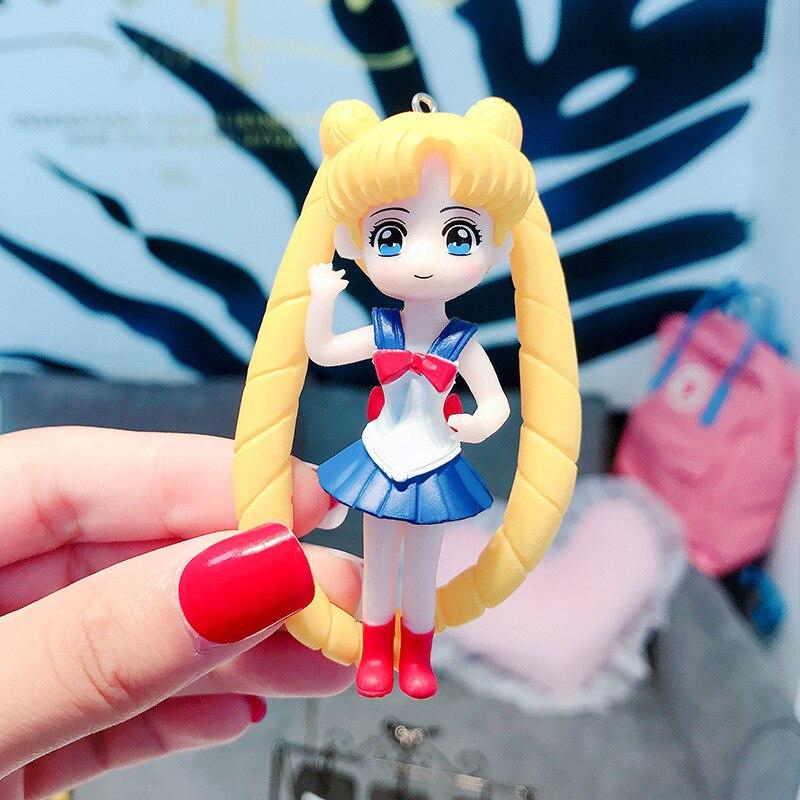 Creative Classic Anime Figure Character Keychain Keyring Car Keyfob Decor Gift