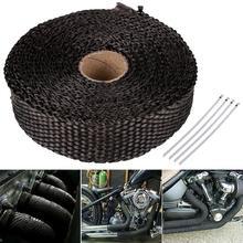 5M Car Moto Heat Shield Wrap Turbo Exhaust Heat Tape Wrap Pipe Wrap Shields Manifold Header Insulation Cloth Roll