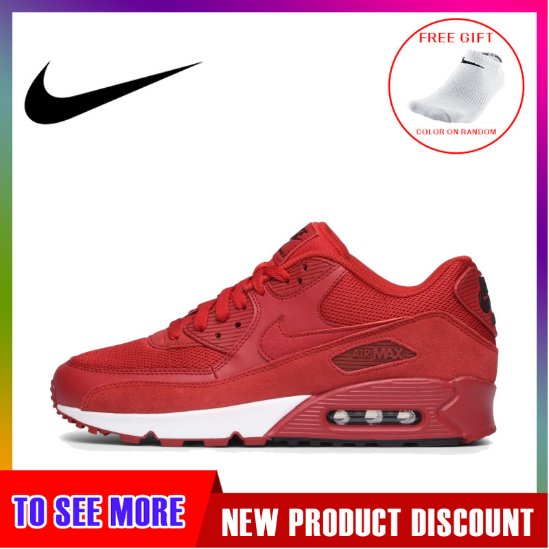 Original Authentic <font><b>NIKE</b></font> <font><b>AIR</b></font> <font><b>MAX</b></font> <font><b>90</b></font> Men's Running <font><b>Shoes</b></font> Sport Outdoor Sneakers Shock Absorbing Lightweight 2019 New 537384-604 image