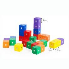 10 шт Магнитный куб деревянный пазл игрушки для детей магнитный