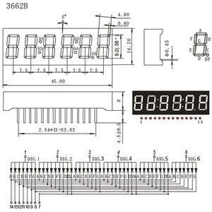 Image 5 - 2pcs LED Timer Display 6 Digits Digital Clock Display RED Cathode 7 Segment LED Display 0.36inch Timer Numbers LED Signs Display