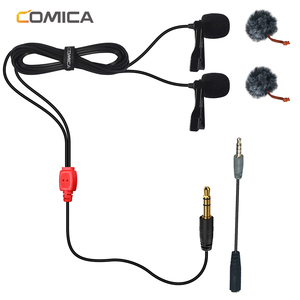 Image 2 - CoMica CVM D02 Microphone 2.5M 4.5m 6.0m Lavalier Condenser Microphone Mic for DSLR Camera Phone Gopro Studio Microphone