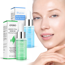 EFERO Hyaluronic Acid Serum for Face Cream Shrink Pore Green Tea Whitening Essence Oil Control Moisturizing Skin Repair Acne