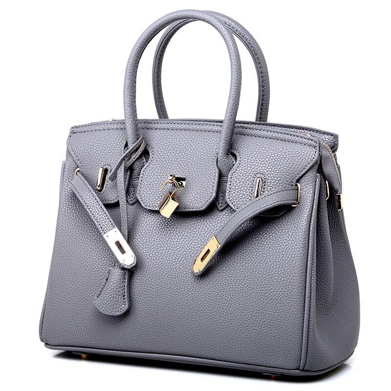 European And American Fashion Lychee Pattern Platinum Bag Slant Span Single Shoulder Women's Handbag