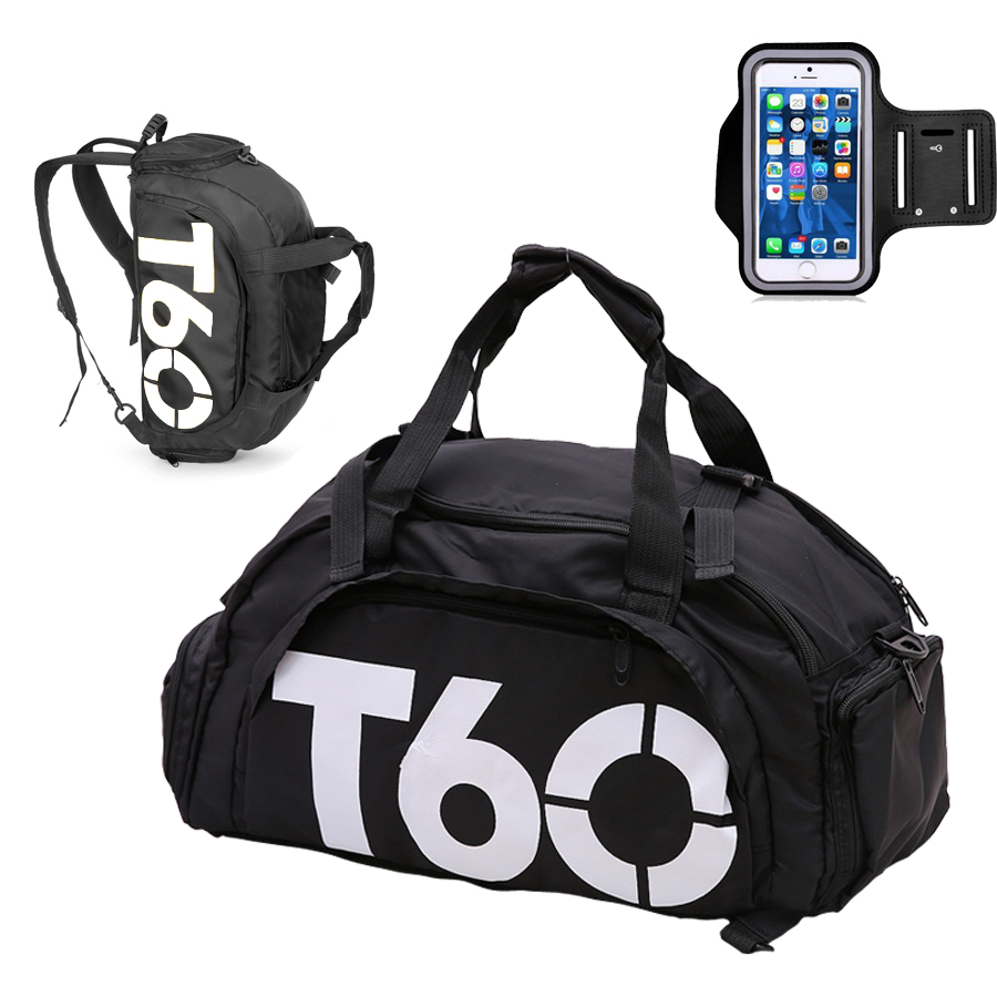 T60 Large Sport Gym Bag Men Women Fitness Backpack Female Waterproof With Shoes Compartment Travel Luggage Duffel Bags Sac De