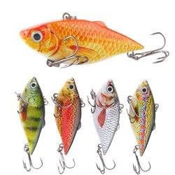 1 stücke 6,3 cm VIB Crankbait 8,5g Lebensechte Angeln Locken Hohe Qualität Angeln Köder Langsam Sinkend Harte Angeln Wobbler pesca Mini Vib