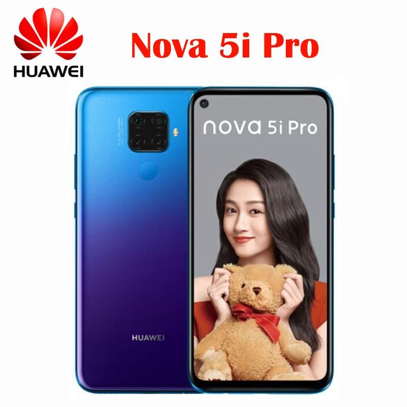 Смартфон Huawei Nova 5i Pro, 8 + 128 ГБ, Kirin 810, 8 ядер, 6,26 дюйма, 4000 мА ч, сканер отпечатка пальца, Android 9,0