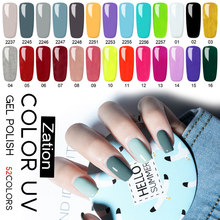 Zation żelowy lakier do paznokci Pure Color baza Top Semi Permanent Need lampa UV LED do lakieru do Manicure lakier żelowy lakier do paznokci(China)