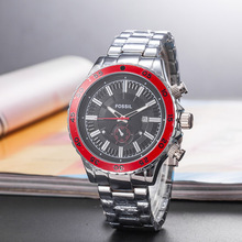 цена на Men's Quartz Watch Waterproof Day-Date Watches With Stainless Steel Strap Reloj de los hombres