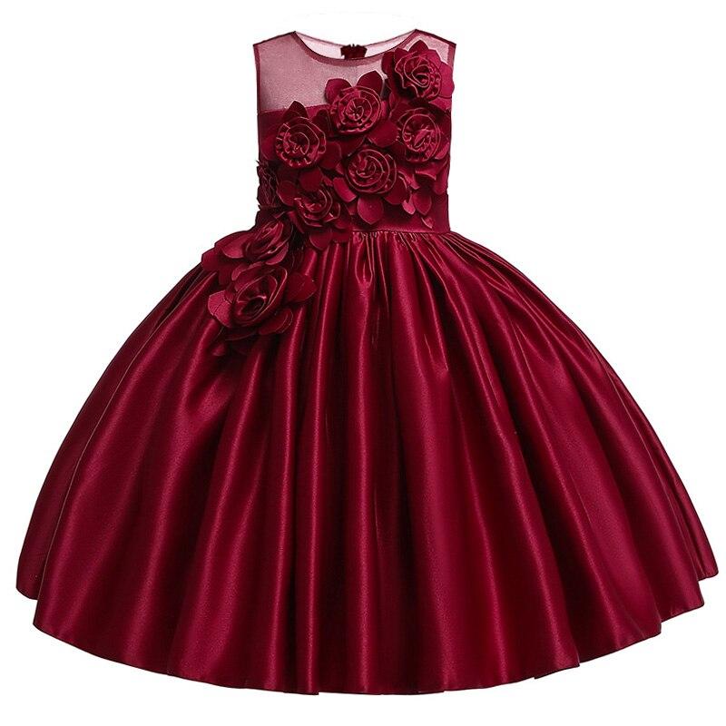 2019 High Quality Elegant Girls Evening Prom Dress Embroidery Knee-Length Girls Flower Girls Dress Girls Celebrity Dress L9027