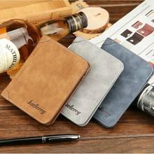 Мужской кошелек baellerry из скраба и кожи короткий тонкий бумажник