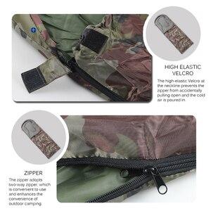 Image 3 - Umschlag Art Schlafsack Spleißen Camouflage Military Tragbares Outdoor Wandern Schlafsäcke Licht Herbst Camping Schlaf Getriebe