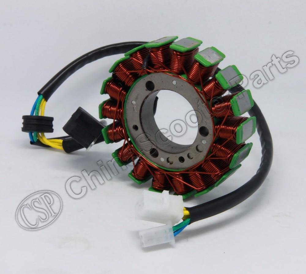 18 Coils Magneto Stator 104mm For Majesty YP250 ROKETA MC-54B Linhai VOG 250 257 260 300 LH170MM AEOLUS BMS 260 Diamo 257