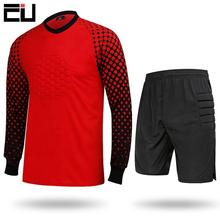 Jerseys-Kit Goalkeeper Soccer Shirt Shorts Football-Uniform Sponge-Protection Training