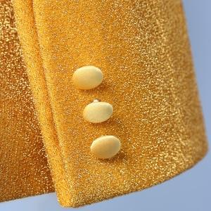 Image 3 - PYJTRL Conjunto de dos piezas para hombre, chal dorado brillante de solapa, trajes de graduación, traje de esmoquin para boda, trajes para hombre, última capa, diseños de pantalón
