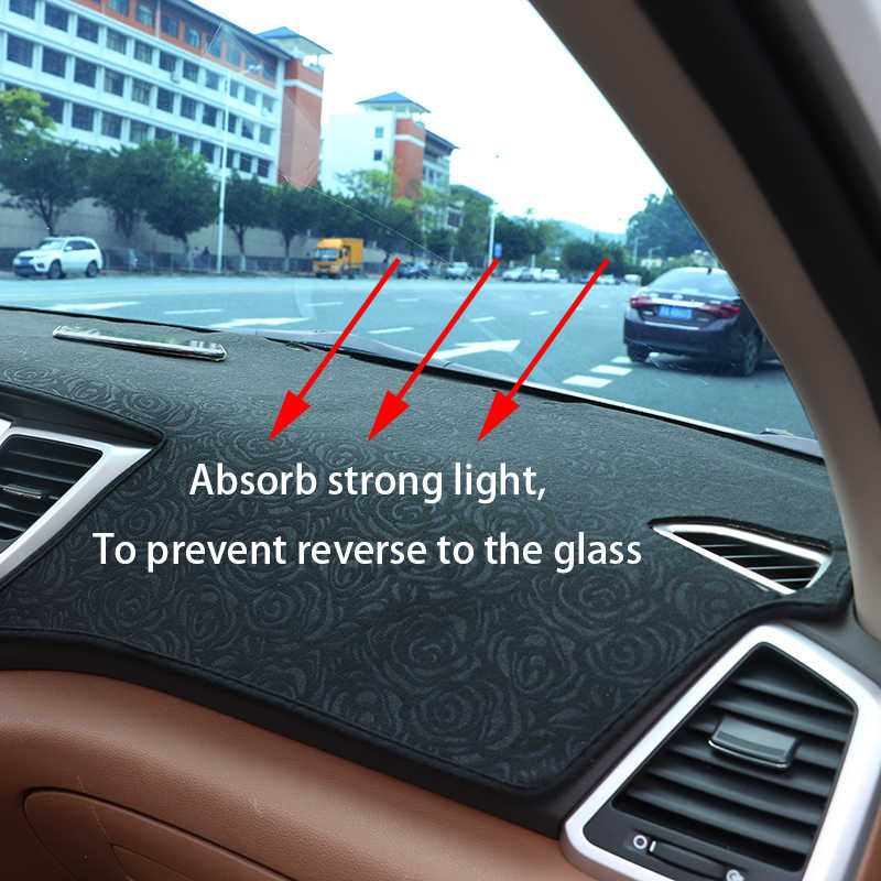 Rosa patrón para BMW serie 5 2004 2005-2010 panel de cubierta de pegatinas de coche Decoración Accesorios de coche Interior del coche calcomanías