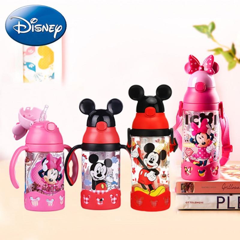 400ML 500ML Disney Mickey Minnie Baby Cup Babys Feeding Bottle Portable Anti-leaking Drinkware Outdoor Travel Children Cups