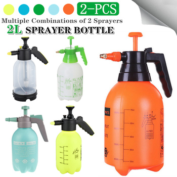 2Pcs Sprayer Bottle Multiple-Combination Hand Pressure Trigger Sprayer Adjustable Air Compression Spray Bottle Watering Can 2-Pc