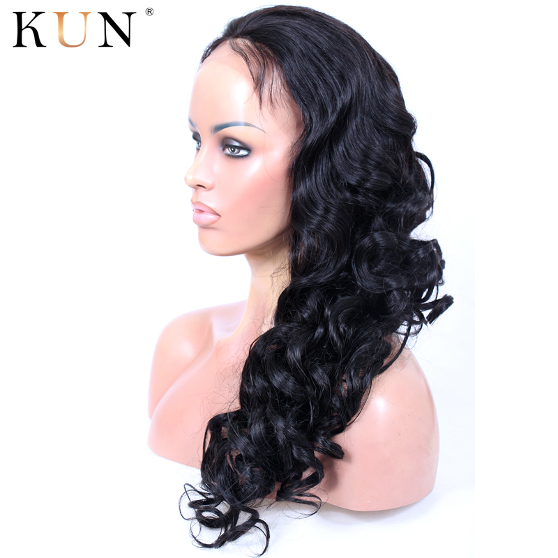KUN Hair Loose Wave Wig 13x6 Lace Front Human Hair Wigs Remy 150 180% Density Glueless Lace Front Wig Pre Plucked For Women