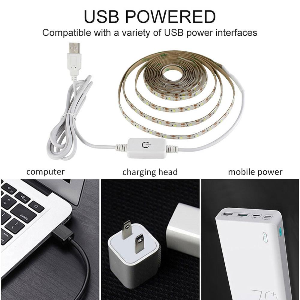PIR Motion Sensor LED Strip Light 2835 SMD Wireless USB LED Strip lamp 5V