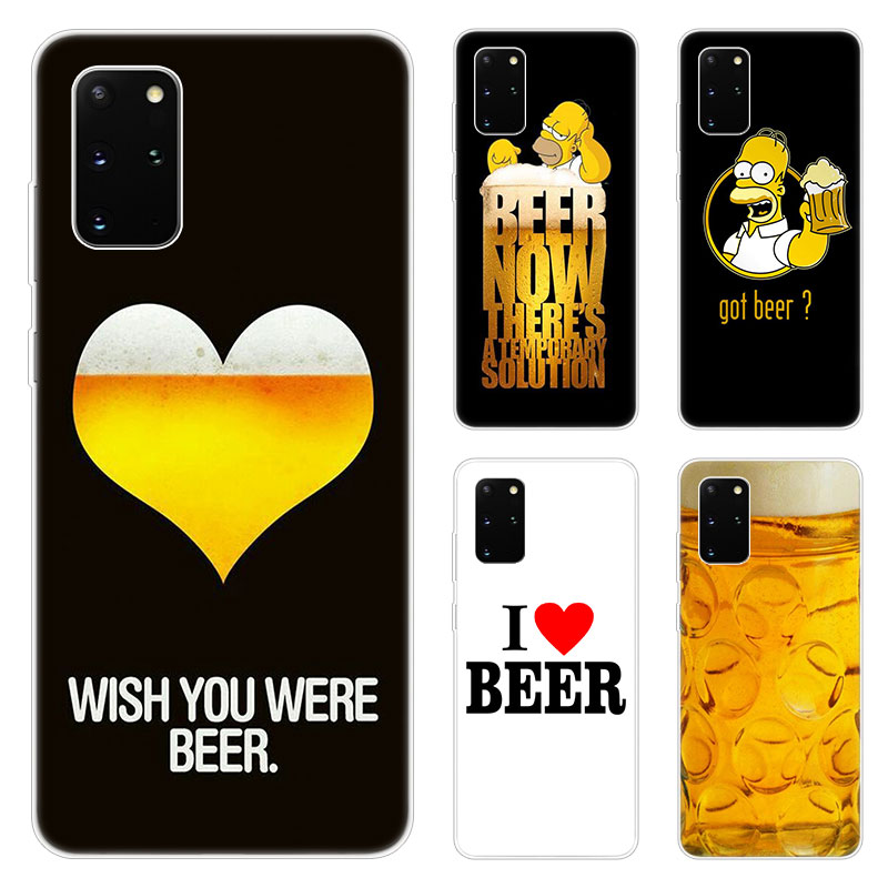Fun Beer <font><b>Glass</b></font> Phone <font><b>Case</b></font> For <font><b>Samsung</b></font> Galaxy S20 Plus Ultra A01 A11 A21 A31 A41 A51 A71 A81 A91 A10S A20S A70S A70E A90 5G <font><b>M30S</b></font> image