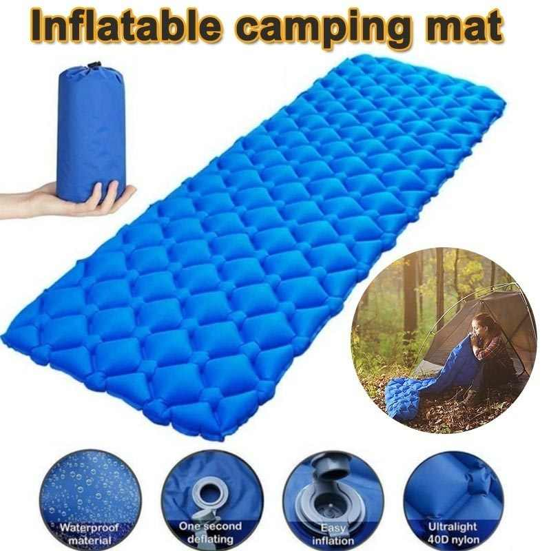 CAMPING INFLATABLE ROLL MAT SLEEPING PAD MATTRESS ULTRALIGHT WATERPROOF AIR PAD