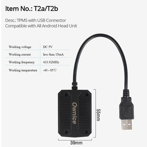 Image 2 - Ownice Android 8.1 USB TPMS ความดันยางปลุกภายนอก 4/เซ็นเซอร์ภายในสำหรับรถวิทยุยานพาหนะ