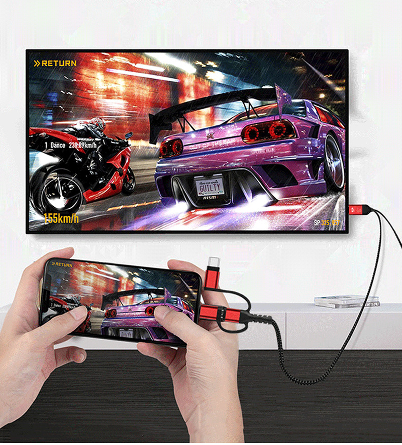 2K 60Hz iOS Android Type C to HDMI Adapter TV Video Cable for iPhone XR 11 Pro Max For Huawei P30 P20 Pro Smasung S8 S9 S10 S20