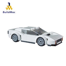BuildMoc 16976 Stadt Miami Vice Testarossa Mini Bildungs Bausteine Kompatibel Mit Technische Stadt für Kinder Geschenk Spielzeug