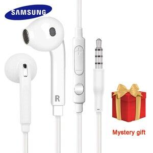 Image 1 - Samsung orijinal EO EG920 S6 kulaklık In ear kontrol hoparlör kablolu 3.5mm kulaklık mikrofon ile 1.2m kulak spor kulaklık