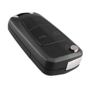 Image 3 - KEYYOU مفتاح سيارة قابل للطي مع 2 أزرار ، 10X HU43 ، حافظة لأوبل فوكسهول أسترا إتش كورسا دي فيكترا سي زافيرا أسترا فيكترا سيجنوم