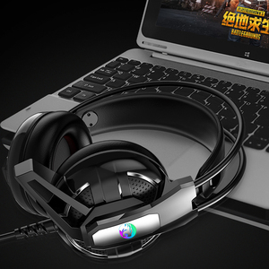 Image 2 - Gaming Headphones Headset Deep Bass Stereo wired gamer Earphone Microphone with backlit for Xbox one PS4 Mobile phone PC Laptop