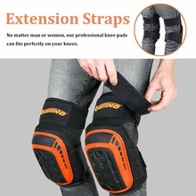 Knee-Pads Construction-Floorin for Work with Heavy-Duty Foam-Padding Comfortable Gel