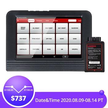 цена на LAUNCH X431 V Full System Professional diagnostic tool IMMO DPF TPMS Reset V Pro mini OBD2 code reader Scanner 2year free update