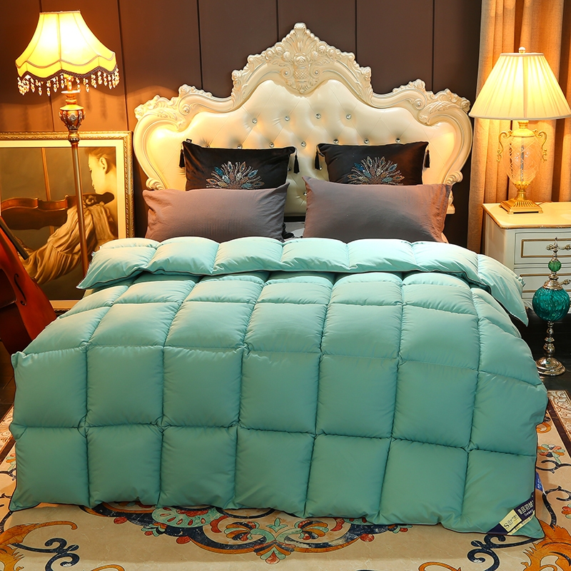 Luxury Hotel Goose Down Quilt Autumn Winter Comforter Thick Warm Duvet Queen King Full Single White/Blue/Pink/Brown