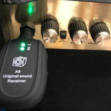 UHF Guitar Wireless System nadajnik odbiornik Audio wbudowany akumulator wbudowany akumulator bezprzewodowy nadajnik gitarowy tanie tanio Wireless Guitar System wireless guitar transmitter receiver guitar pickup parts