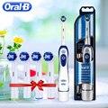 Oral B Sonic электрическая зубная щетка для отбеливания зубов Vitality зубная щетка не перезаряжаемая удаляемая батарея щетка для путешествий зубна...