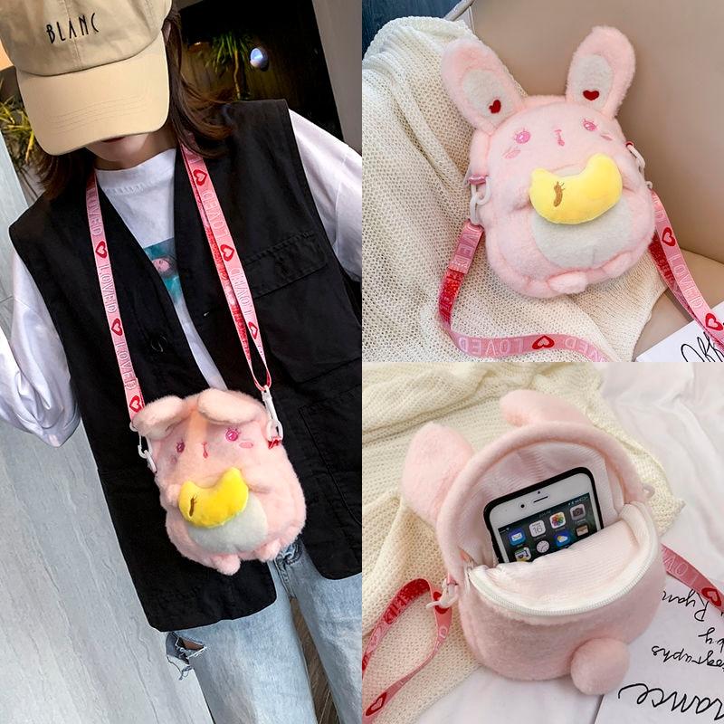 New Japanese Fashion Cute Rabbit Dolls Bag Girls Cartoon Plush Bags Cosplay Lolita Style Women Harajuku Single Shoulder Bag