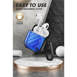 Image 5 - Чехол для SUP чехол UB Pro, чехол для Airpods 1 и 2, полноразмерный прочный защитный чехол, чехол с карабином для Apple Airpods 1st и 2nd