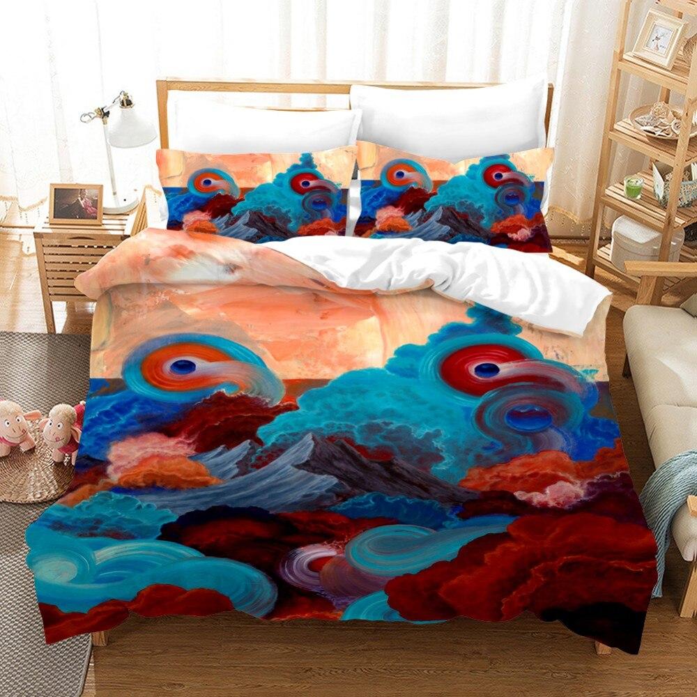 Animals Bird Duvet Cover Set Horror Snake Beauty Bed Linen Set Blue Galaxy Cartoon Parrot American Flag Bedding Set Pillowcase