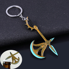 The Seven Deadly Sins Axe Bottle Opener Keychain Nanatsu no Taizai Escanor Divine Axe Rhitta Weapon Key Chain for Men Jewelry jhorden austin his deadly weapon