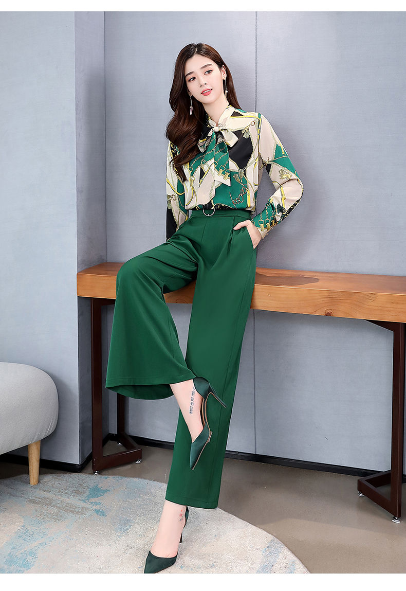 H6a90382a1bc3451a8dad522efeeaad22e - Summer Two Piece Set OL Women Sets Plus Size Two Piece Set Top And Pants Wide Leg Pants Woman Tracksuit /outfit/suit/Set 2 Piece