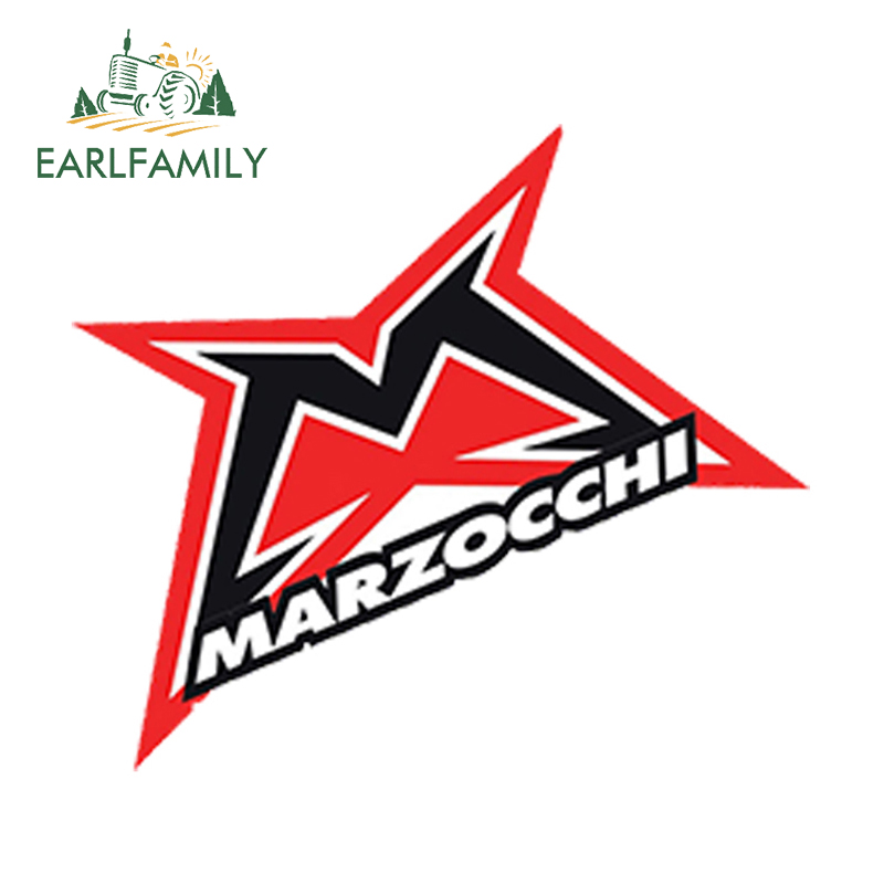 EARLFAMILY 13cm X 9cm Car Sticker Vinyl Decal Auto Motorcycle Marzocchi Bomber Decal Mountain Bike Race Waterproof Car Styling