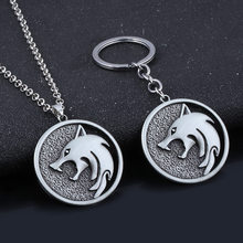 Wolf Head Necklace Wild Hunt Witcher Wizard Necklace Key Chain for Men Women Accessory Animal Jewelry Gifts Punk Gothic Design(China)