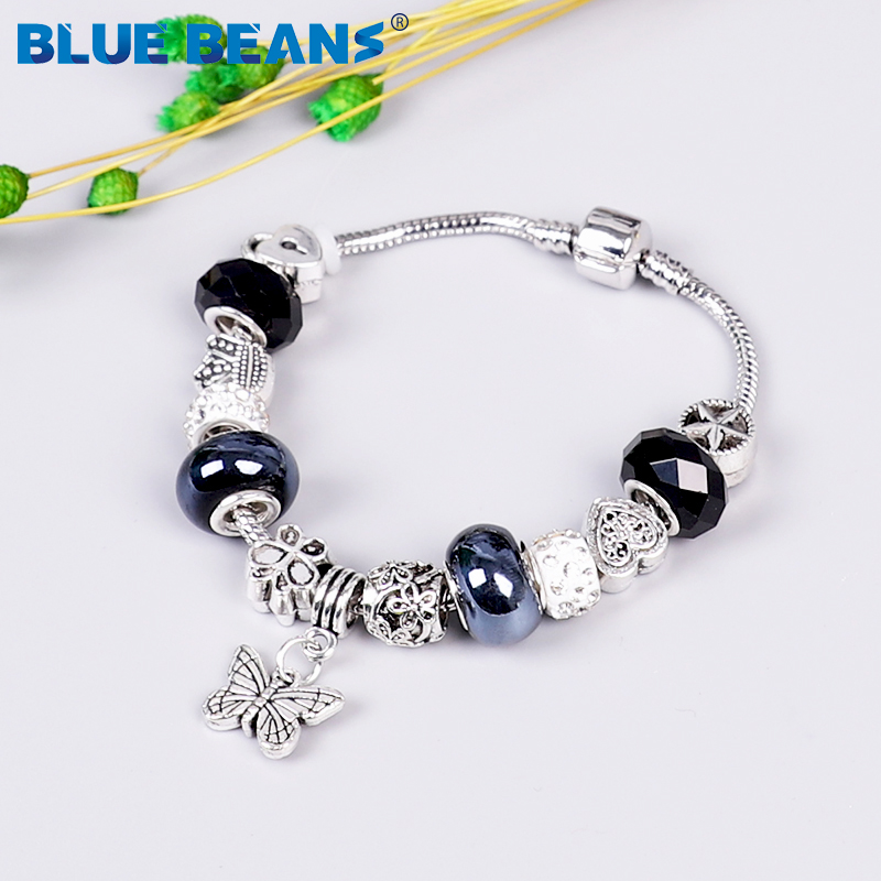 2020 Bracelets For Women Jewelry Beads Bracelet Charms Chakra Bracelet Love Girls Bracelet Stainless Steel Butterfly Boho Punk