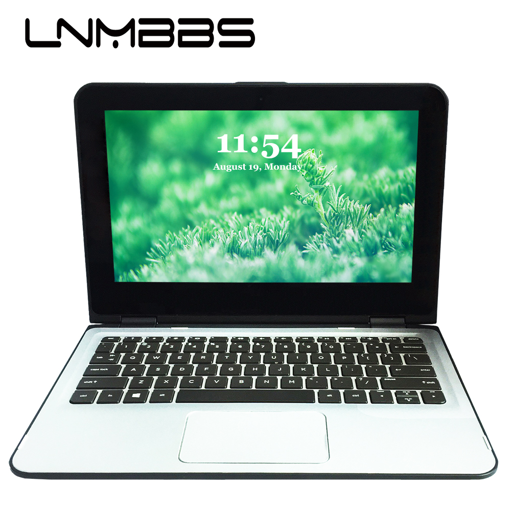 LNMBBS X36 11.6inch Laptop Touch Screen Notebook 4GB 256GB SSD Window 10 1366*768 IPS Quad Core Wifi HDMI Camera Office Computer