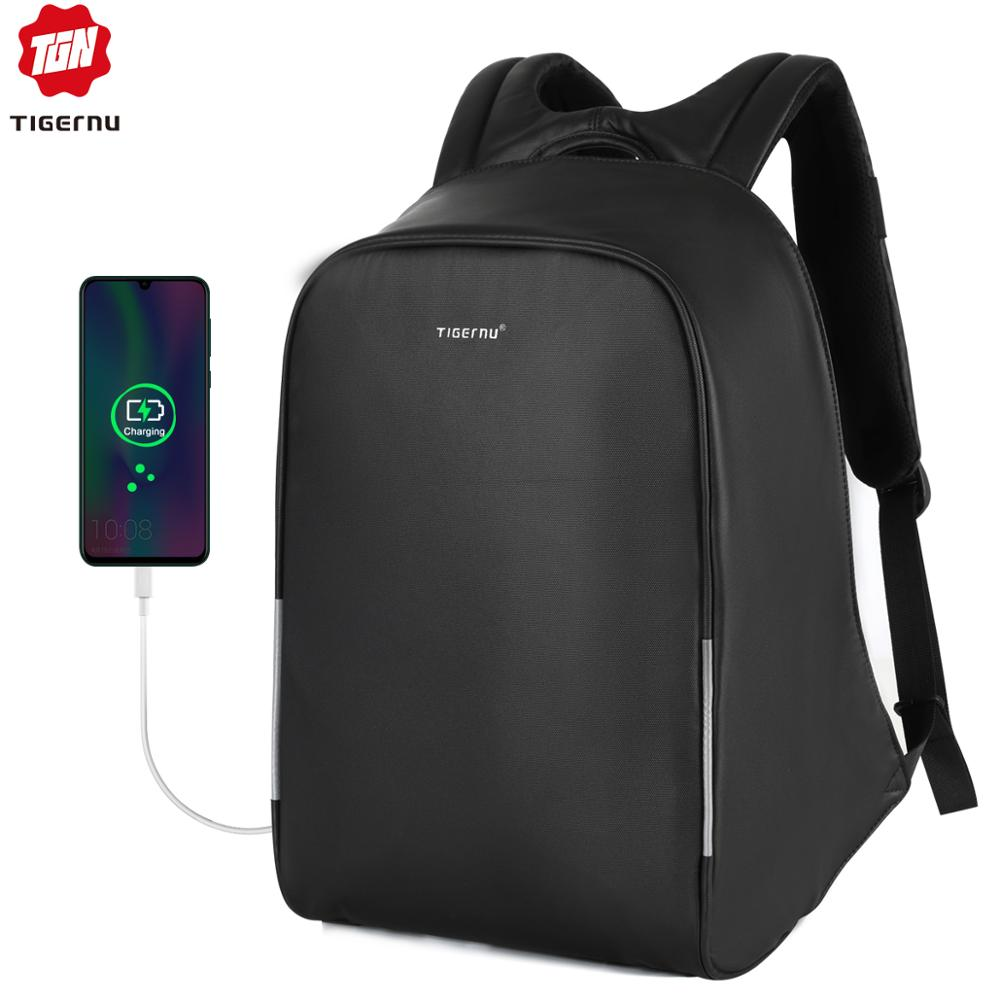 Tigernu New Waterproof Business Backpack  Hidden Zipper Anti Theft  Male  Back Pack With Reflective Strip Sac A Dos