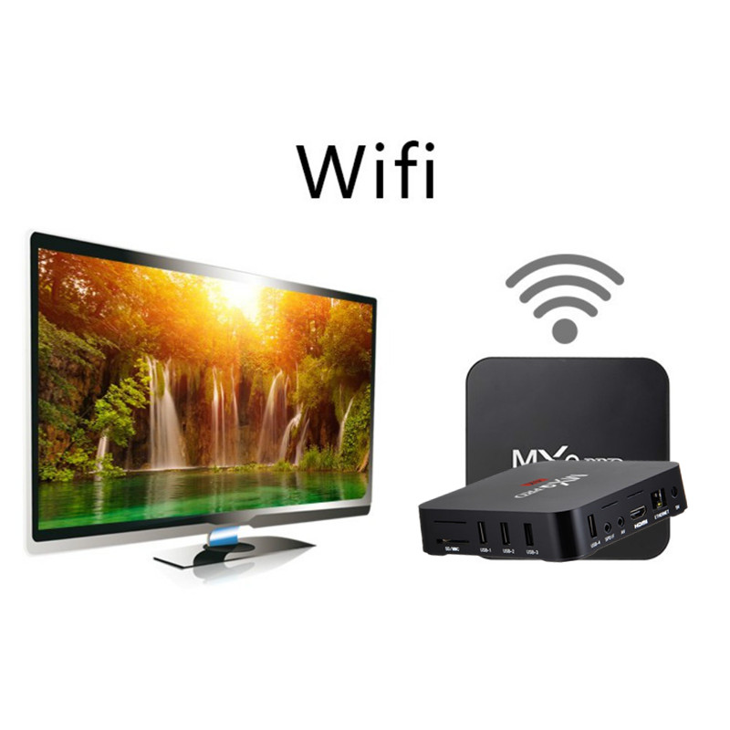 Image 5 - MXQ pro 4K Android TV Box 2G 16G Smart BOX Android 7.1 4K HD 3D 2.4G WiFi RK3229 Quad Core Media Player smart tv android tv box-in Set-top Boxes from Consumer Electronics