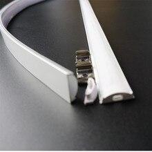 5 pces do tipo liso de u de 50cm perfil de alumínio conduzido magro da altura de 6mm, canal conduzido flexível, alojamento claro matte dobrável da barra do difusor