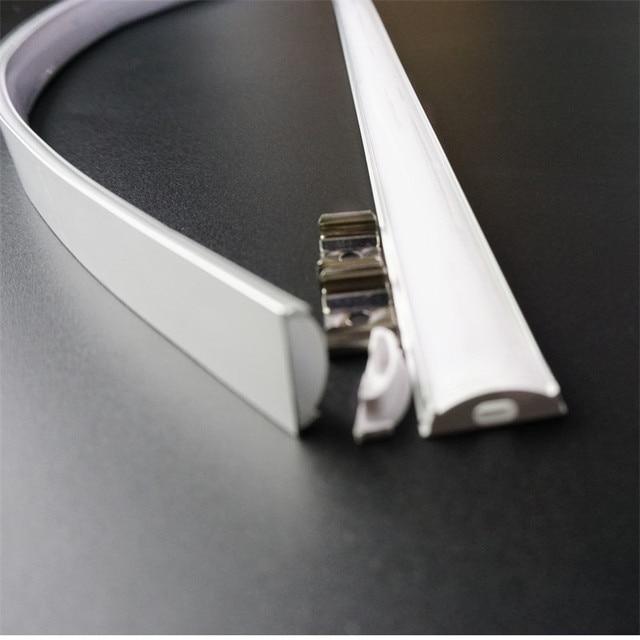 5pcs di 50 centimetri piatto di U tipo di 6 millimetri di altezza slim led profilo in alluminio, flessibile di scanalatura del led, flessibile opaco bar alloggiamento della lampada